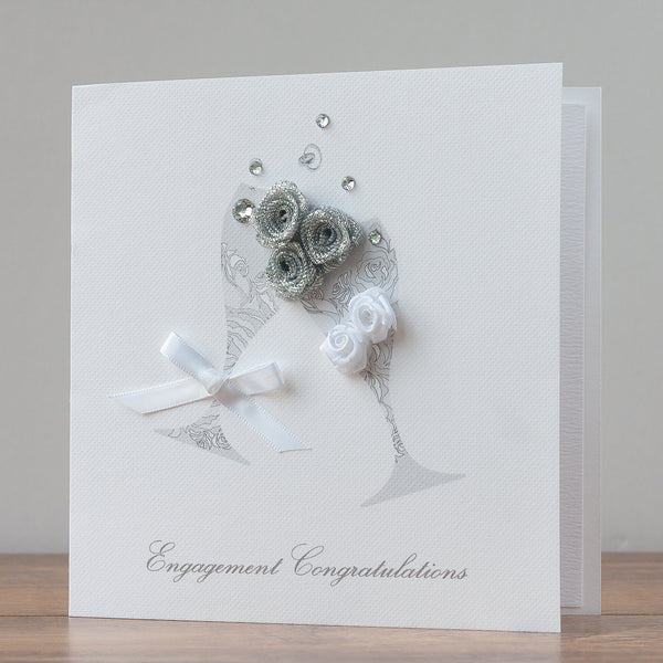 Handmade Engagement Card  'Engagement Toast'