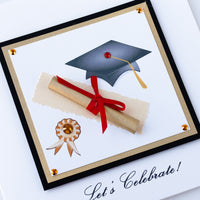 Handmade Graduation Card 'Let's Celebrate!'