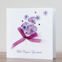 Handmade Sympathy Card 'With Deepest Gratitude'