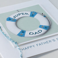 Handmade Father's Day Card  'Super Dad'