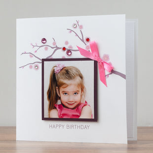 Kids Birthday Photo Card 'Birthday Girl'