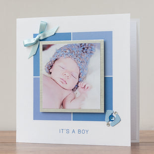 New Baby Photo Card 'It's a Boy'