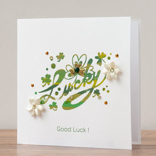 Handmade St. Patrick's Day Card 'Lucky'