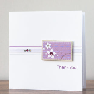 Handmade Thank You Card 'Simply Lilac'