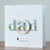 Handmade Father's Day Card  'Dad, I Love You'