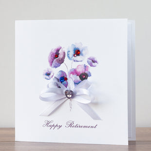 Handmade Retirement Card 'Retirement Bunch'