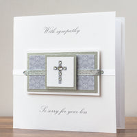 Handmade Sympathy Card 'With Sympathy'