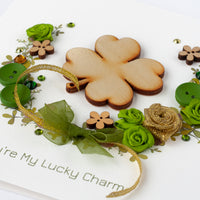 Saint Patrick's Day Card 'Clover and Garland'