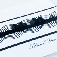Handmade Thank You Card 'Black Swirls'