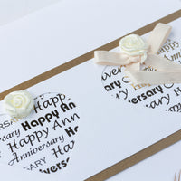 Handmade Anniversary Card 'With All My Love On Our Anniversary'