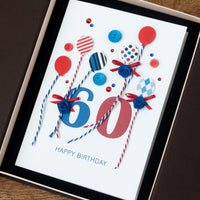 Luxury Boxed Birthday Card 'Happy 60th Birthday'