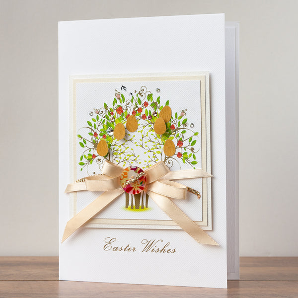 Luxury Boxed Easter Card 'Spring Easter Tree'