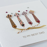 Handmade Father's Day Card  'Tie Collection'