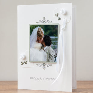 Luxury Photo Anniversary Card 'Happy Anniversary'