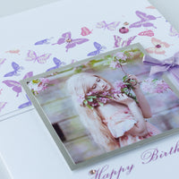 Handmade Birthday Photo Card 'Birthday Butterflies'