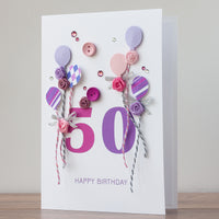Luxury Boxed Birthday Card 'Happy 50th Birthday'