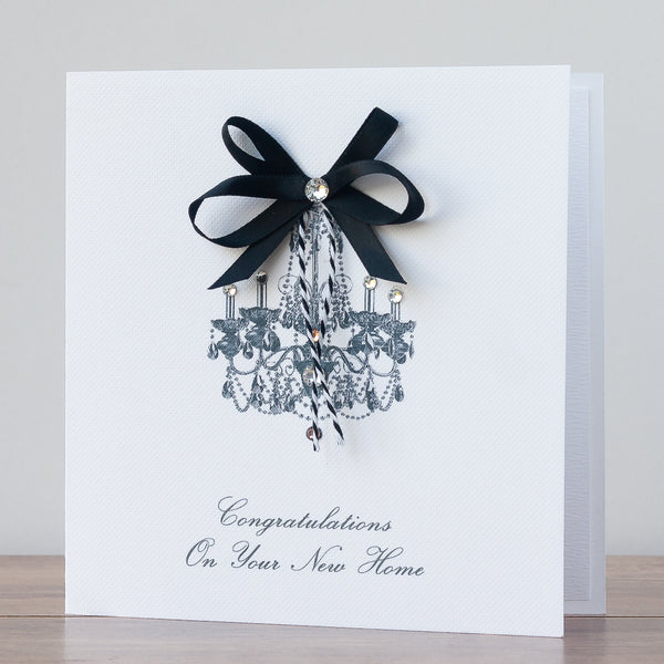 Handmade New Home Card  'Chandelier'