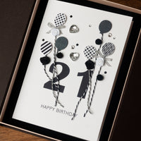 Luxury Boxed Birthday Card 'Happy 21st Birthday'