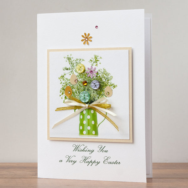 Luxury Boxed Easter Card 'Easter Green Jug'