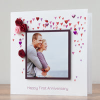 Photo Anniversary Card 'Happy 1st Anniversary'