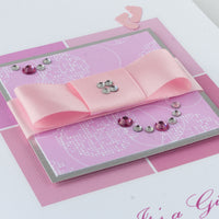 Luxury Boxed New Baby Card  'It's a Girl'