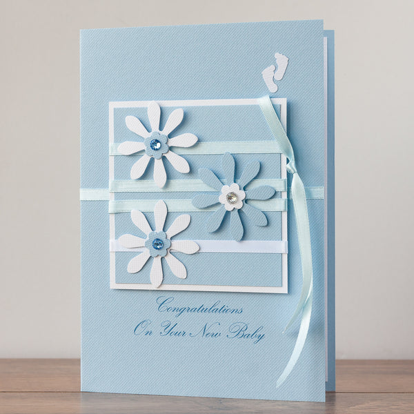 Luxury Boxed New Baby Card  'Bundle of Joy - Baby Boy'