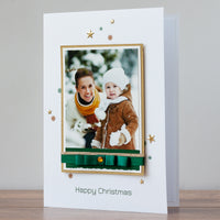 Luxury Photo Christmas Card 'Happy Christmas'