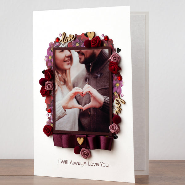 Luxury Handmade Photo Card 'Loving You'