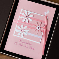 Luxury Boxed New Baby Card  'Bundle of Joy - Baby Girl'