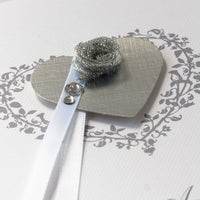 Handmade Anniversary Card 'Silver Wedding'