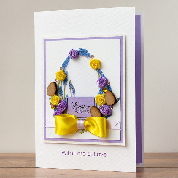 Luxury Boxed Easter Card 'Spring Flower Egg'