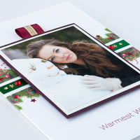 Luxury Photo Christmas Card 'Warmest Wishes'