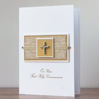 Luxury Boxed Holy Communion Card 'On Your First Holy Communion'