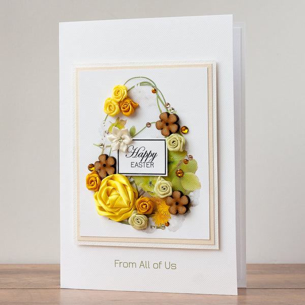 Luxury Boxed Easter Card 'Floral Easter Egg'