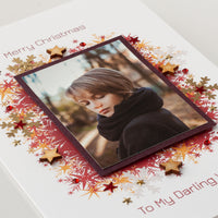 Luxury Photo Christmas Card 'Christmas Sparks'