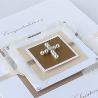 Luxury Boxed Christening Card 'Congratulations On Your Christening'