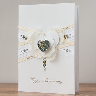 Luxury Boxed Anniversary Card 'Happy Anniversary'