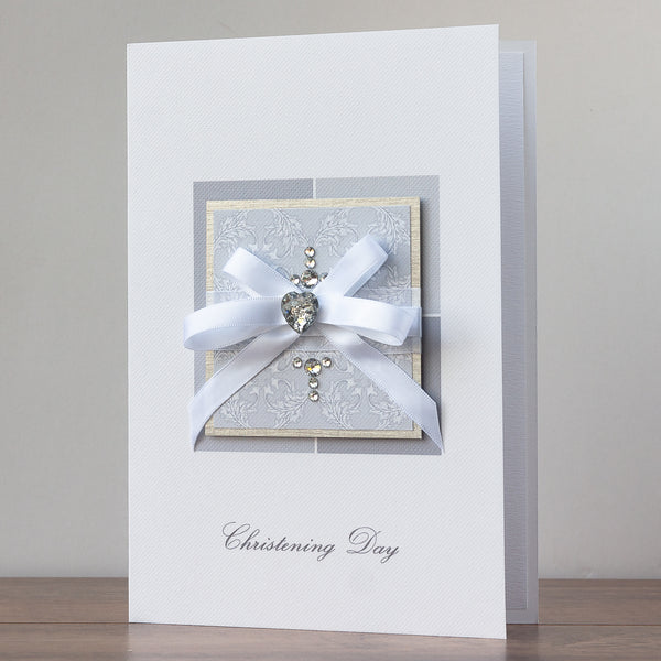 Luxury Boxed Christening Card 'Christening Congratulations'