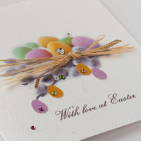 Handmade Easter Card 'Pussy Willow Nest'