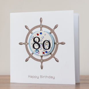 Handmade Birthday Card '80th Birthday'