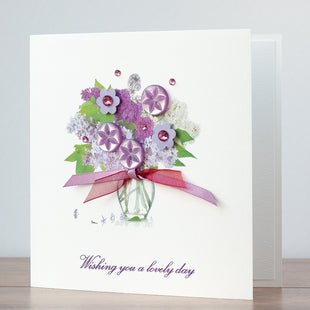 Handmade Mother's Day Card 'Lilacs'
