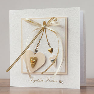 Handmade Wedding Card 'Happy Ever After'