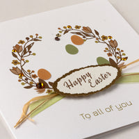 Handmade Easter Card 'Easter Wreath'
