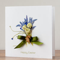Handmade Easter Card 'Muscari Bouquet'