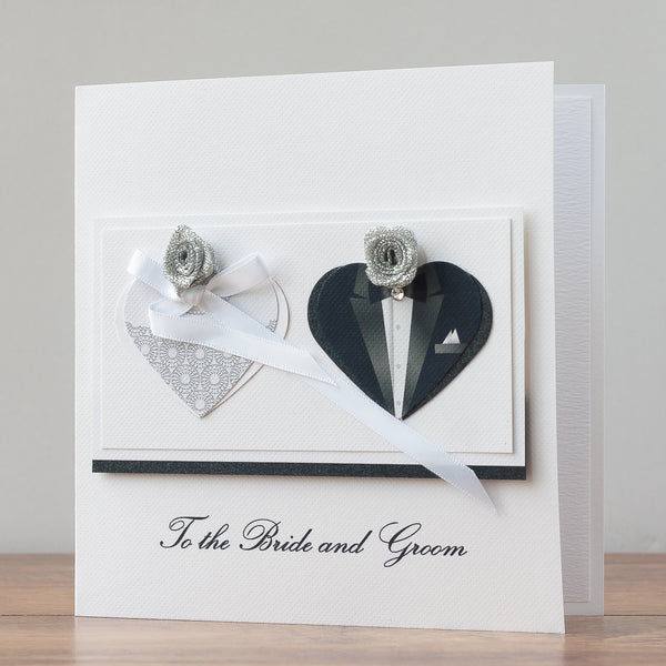 Handmade Wedding Card 'Happy Couple'
