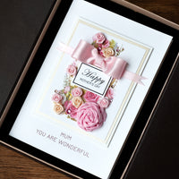 Luxury Boxed Mother's Day Card 'Satin Rose'
