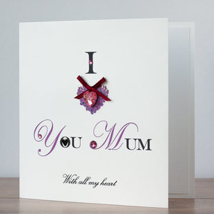 Handmade Mother's Day Card 'I Love You Mum'