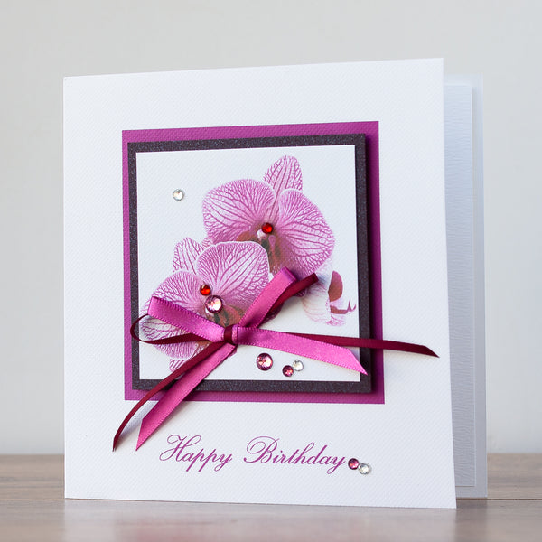 Handmade Birthday Card 'Vivaldi Pink'