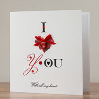 Handmade Valentines Card 'Red Passion'