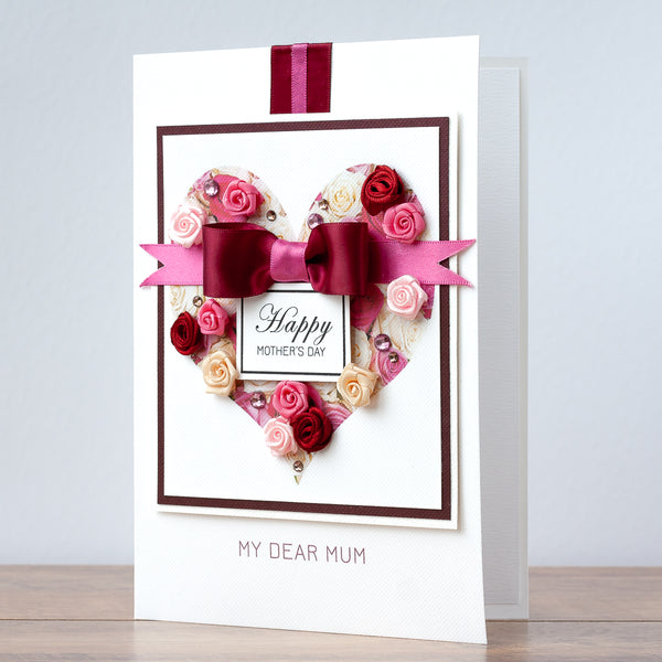 Luxury Boxed Mother's Day Card 'Heart of Roses'
